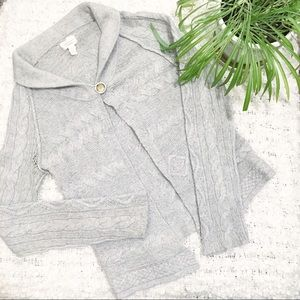 Banana Republic Alpaca Blend Knit Cardigan Grey